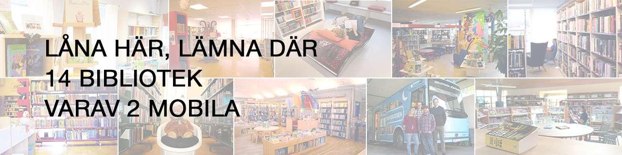 Låna här, lämna där. 14 bibliotek varav 2 mobila